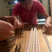 Harpsichord Stringing